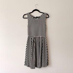 ModCloth Black & White Striped Dress